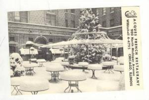 Scene in Winter of Jacques Famous Outdoor Dining Patio, Acques French Resta...
