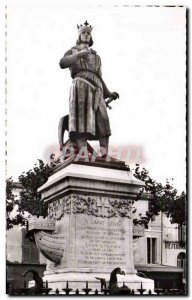 Old Postcard Acute Dead statue of St louis Pradier