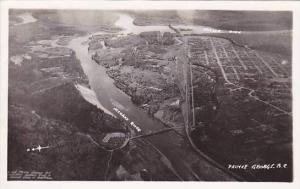 RP, Aerial, Nechako River & Fraser River, Prince George, British Columbia, Ca...