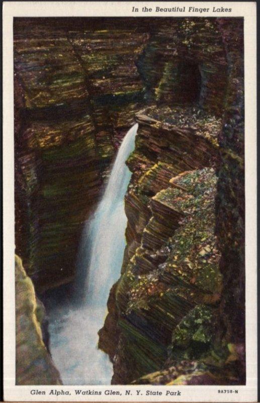 New York WATKINS GLEN The beautiful Finger Lakes Glen Alpha - Chrome