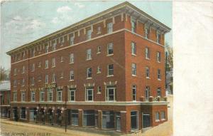 Little Falls New York~The Richmond Hotel Block~1909 Postcard