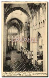 Old Postcard Tournai Jube Transept of the Cathedral