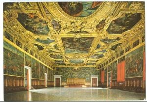 Italy, Venice, Venezia, Palazzo Ducale, Sala del Maggior Consiglio, Postcard