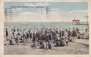Bathing Beach McKinley Park, Milwaukee, Wisconsin, PU-1921