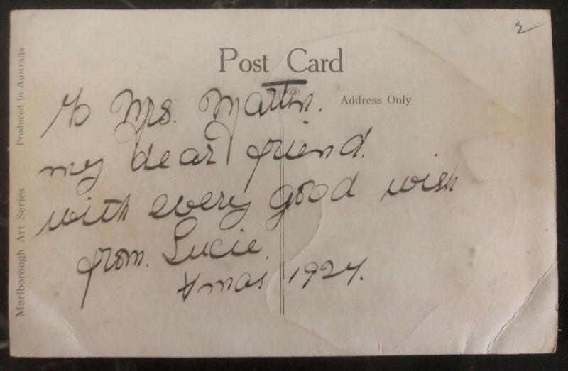 Mint Australia Picture Postcard PPc Hands Across The Sea 1924