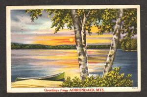 NY Greetings ADIRONDACK MTS MOUNTAINS NEW YORK Sunset