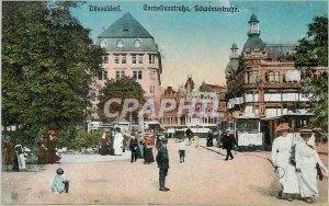 Postcard Dusseldorf Old Tram Tennis