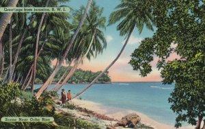 Jamaica , B.W.I. , 1950-60s ; Ocho Rios , Beach
