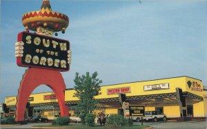 South of the border mexico shop SC vintage postcard