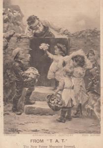 TAT Magazine Grandfathers Birthday Antique Advertising Postcard