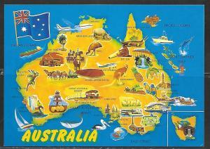 Map, Australia, unused