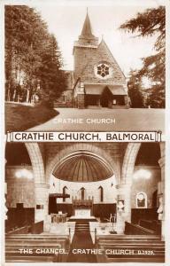 CRATHIE KIRK BALMORAL ABERDEENSHIRE SCOTLAND VALENTINE PHOTO POSTCARD c1958