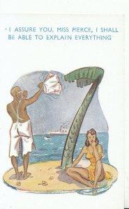 Comic Postcard - Stranded On Desert Island - Ref 17791A