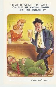 hat's what I like about Charlie-He .. Bamforth Comic Series postcard No. 1746