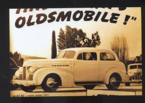 1938 OLDSMOBILE CAR DEALER ADVERTISING POSTCARD '38 OLDS