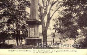Battle Monument Concord MA Unused