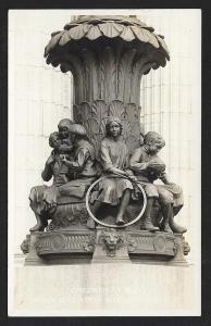 Statue 'Children at Play' Albany New York Education Bldg RPPC Unused c1920s