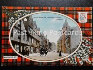 c1909 - macgreor Clan écossais - Huntly MAISON & Canongate Tollbooth EDINBOURG