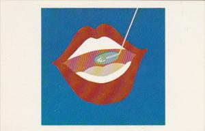 Open Wide by Paula Latos-Valier 1973 Nine Color Serigraph