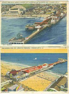 pc2790 postcard Atlantic City New Jersey Steel Pier TWO Postally used 1937