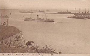 Oceanliner, View Of The Squadron, Brest (Finistere), France, 1900-1910s