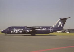 ASTRA AIRLINES, BAe 146-300, unused Postcard