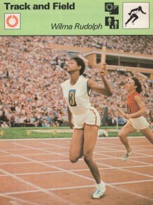 Wilma Rudolph Track & Field Olympic Games Card