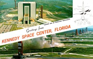 Florida NASA Greetings From Kennedy Space Center Launch Site Of American Astr...