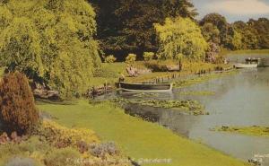 Fritton Lake Gardens Suffolk Lovers In Rowing Sailing Boat Boats Rare Postcard