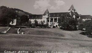RPPC Chalet Berne Lucerne Castle Clearlake CA Hotel PC Marymount Univ Lake Co