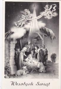 Wesotych Swiat, Nativity Scene, Angels, Jesus Christ, Virgin Mary, Sheppards,...
