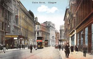 Scotland, UK Old Vintage Antique Post Card Union Street Glasgow Unused
