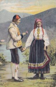 Norway Young Couple In Traditional Costume 1907