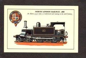 UK North London Railway Railroad Train Locomotive No 8 England Postcard