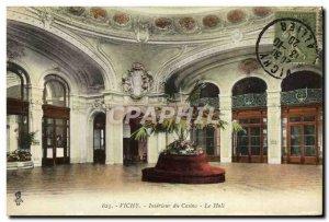 Postcard Old Vichy Interieur Casino Hall