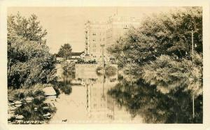 1932 Riverside Hotel Truckee River Reno Nevada RPPC Photo Postcard 3502