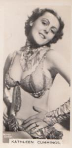 Kathleen Cummings Hollywood Actress Old Real Photo Cigarette Card