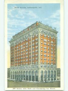 Unused W-Border SEVERIN HOTEL Indianapolis Indiana IN hr9224