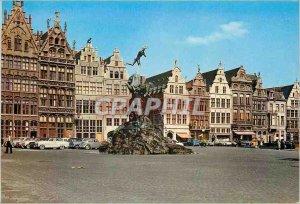 Postcard Modern Antwerp house corporation and brabo