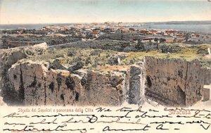Strada dei Sepolcri e Panorama della Citta SiracUSA Italy 1905