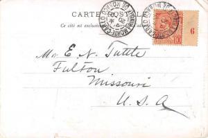 Monte Carlo Monaco Fantasy Rouette Royalty Shoveling Gold Postcard J79637
