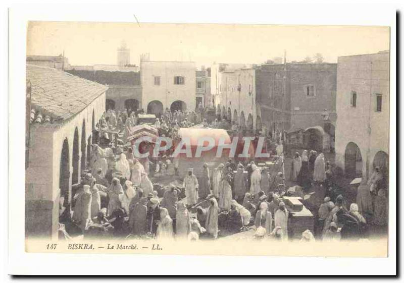 Algeria Biskra Old Postcard The march