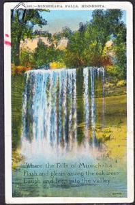 MINNEHAHA FALLS near MINNEAPOLIS MN - 1930s / Poem