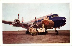 Vintage Kodachrome United Airlines Mail & Cargo Express Prop Mainliner Postale