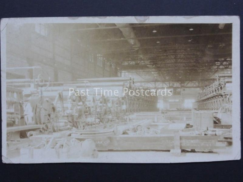 Canada: Newfoundland Paper Maachine Factory - Old Real Photograph Postcard