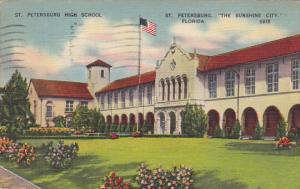 Main Entrance High School St Petersburg Florida 1944