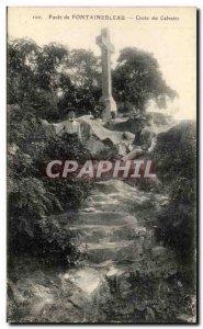 Old Postcard Foret De Fontainebleau Croix Du Calvaire