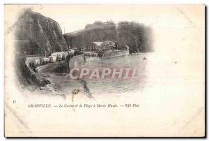 Postcard Old Granville Casino and Plage Maree Haute