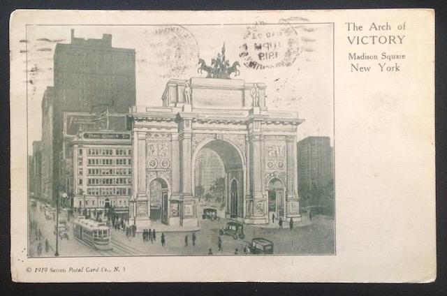 The Arch of Victory, Madison Square, NYC 1919 Success Postal Card Co.