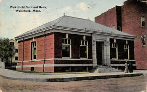 Wakefield Massachusetts~Ladies Chat Outside Wakefield National Bank~1915 PC